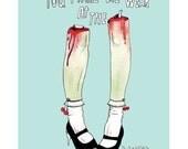 Zombie Leg Love - Art Print