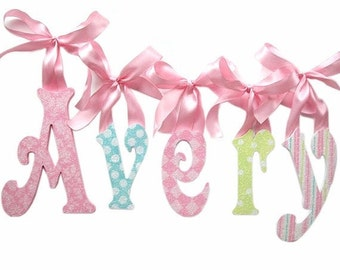 GLITTER and SPARKLE Baby Nursery Wall Letters