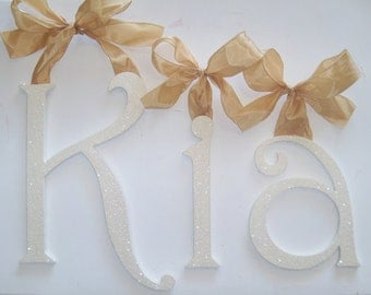 GLITTER and SPARKLE  Hand Painted Wall Letters