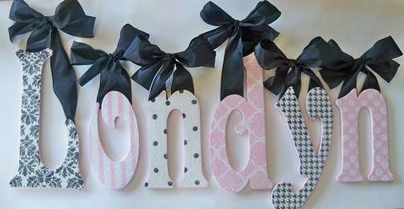GLITTER and SPARKLE - Custom Hand-Painted Wall Letters