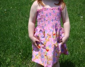SALE Winnie the Pooh and Tigger Toddler Smocked Dress Size 2T