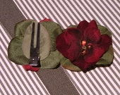 Red Carpet Pixie Hair Clip Fascinator (or buttonhole corsage)