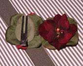 Red Carpet Pixie Velvet Hairclip by Bug Bloomers