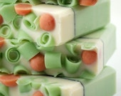 Cucumber Melon Soap Handmade Cold Process, Vegan Friendly