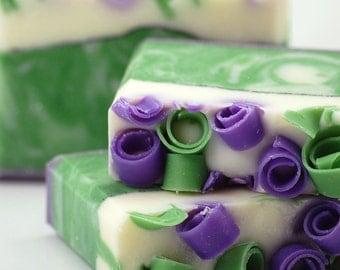 Blackberry Sage Soap Handmade Cold Process, Vegan Friendly