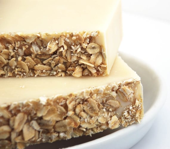 Colloidal Oatmeal Soap, Cold Process, Combination Skin, Vegan Ingredients