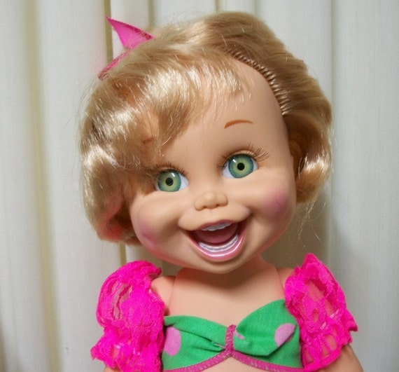 Galoob Baby Face So Funny Natalie Doll Original Top And