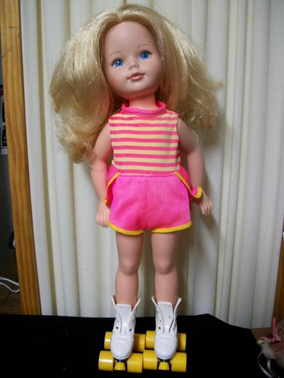 "Reserved- Sale- 20% off  Original Price -1984 17"" Tomy  Skating  Doll Original Clothes and Skates"