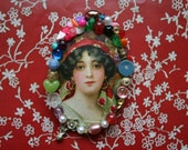 Jewelled Portrait Brooch