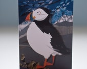 BOGOF SALE Clifftop Puffin Greetings Card