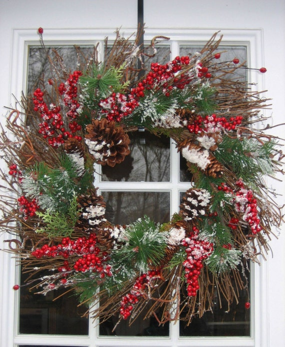 RESERVED FOR JANA Let it Snow Winter Holiday Wreath