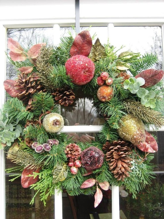 Iced Fruit Holiday Winter Wreath