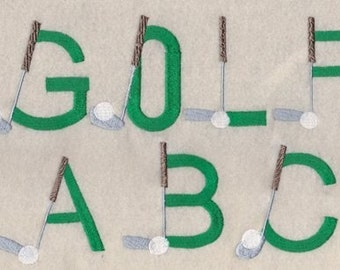 Father's Day Golf Embroidery Font