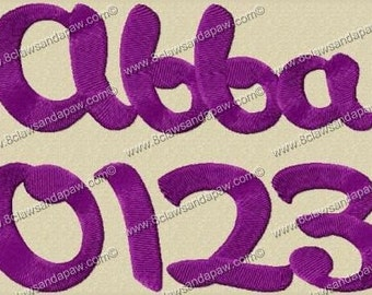 Abba Embroidery Fonts in 3 Sizes