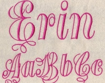 Erin Embroidery Fonts in 3 Sizes