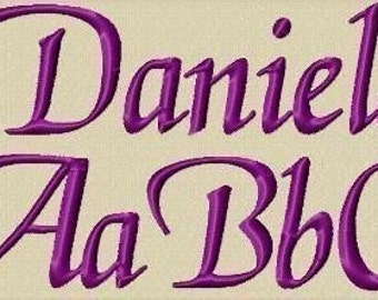 Daniela Embroidery Fonts in 3 Sizes