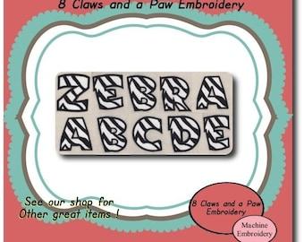 Zebra Embroidery Font