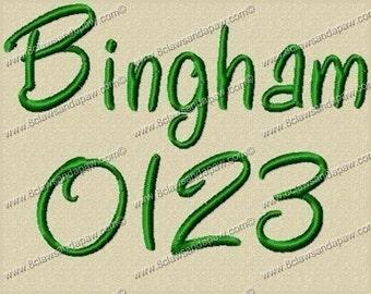 Bingham Font 3 Sizes Embroidery Design