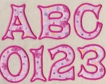 Daisy Applique Embroidery Font 3 Sizes