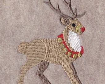 Rudolph the Reindeer Embroidery Design