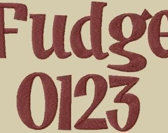 Fudge Embroidery Fonts in 3 Sizes