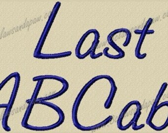 Last Embroidery Font