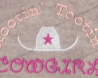 Rootin Tootin Cowgirl Embroidery Design