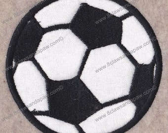 Applique Soccer Ball Embroidery Design-Multiple Sizes