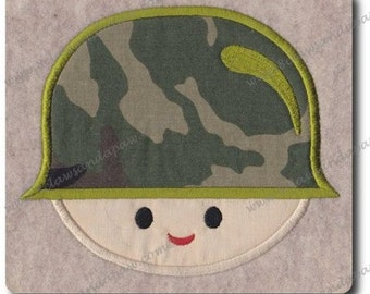 Applique Army Boy-Includes 3 Sizes