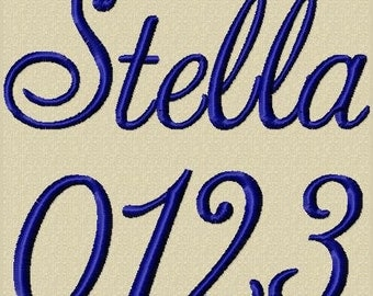 Stella Font Embroidery Design Includes 3 Sizes