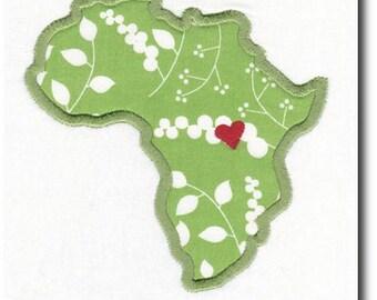 Applique Heart for Uganda Embroidery Design-Includes 3 Sizes