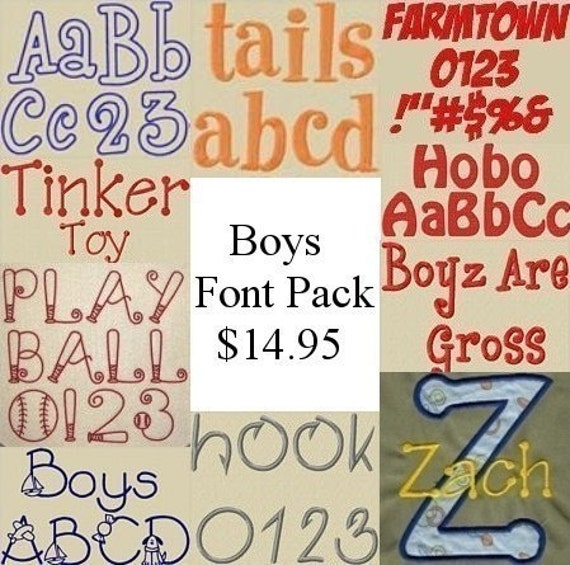 Items Similar To Boy Fonts Package On Etsy