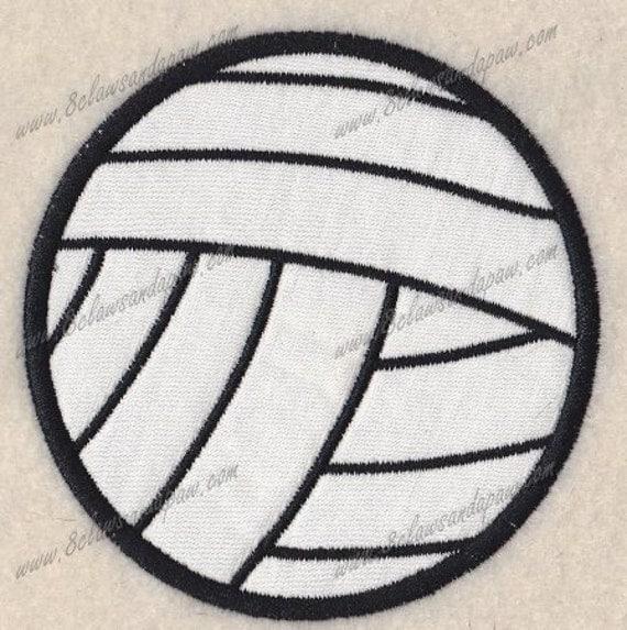 Volleyball Applique Design