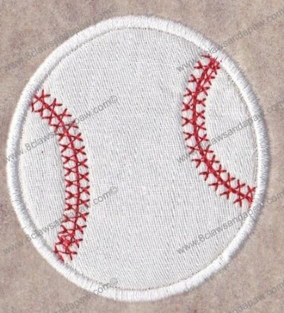 Baseball Applique Design