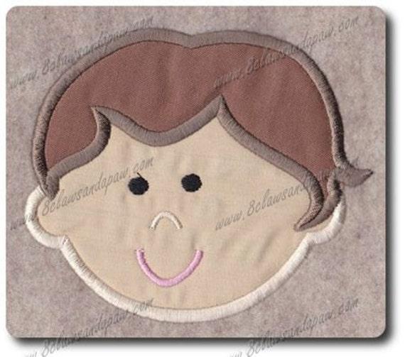 Boy Embroidery Applique 1