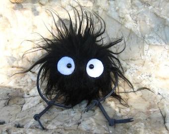 Spirited Away Totoro plush doll keychain Soot Sprite KUROSUKE (Fluffy with Hand & Leg)
