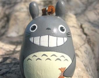 TOTORO Doll key chain rings Studio Ghibli toy G1 (Gray Size L hold brown bag)