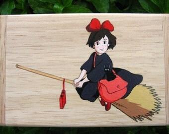 Kiki's Delivery Service Hand Paint wood Box Studio Ghibli