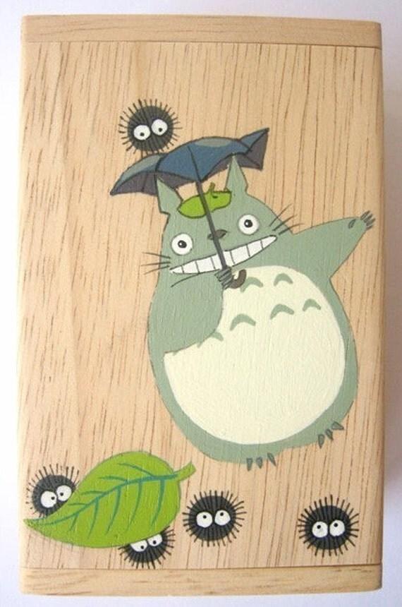 My Neighbor Totoro Hand Paint wood Box Studio Ghibli 7