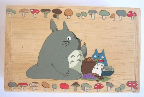 My Neighbor Totoro Hand Paint wood Box Studio Ghibli 14