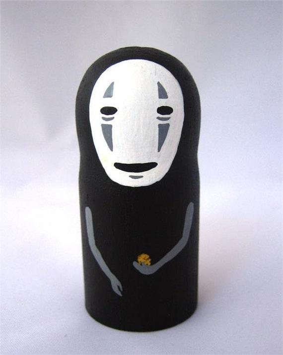 Spirited Away NO FACE / Faceless Studio Ghibli mini Doll / Model / Figure 1
