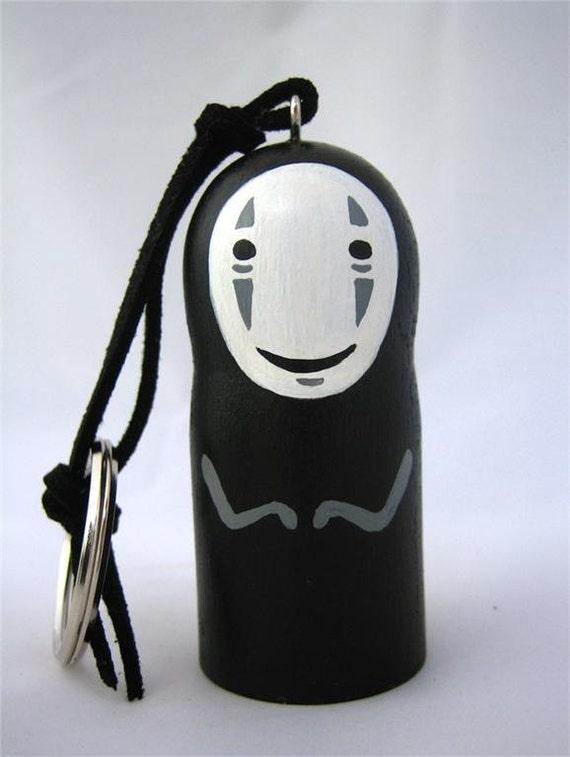 Spirited Away NO FACE / Faceless Studio Ghibli doll key chain rings 3