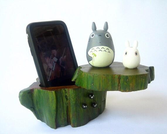 TOTORO Teak Wood Box Studio Ghibli doll figure toy 117