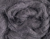 Black Alpaca Roving, Combed Top for spinning and felting, 1 lb