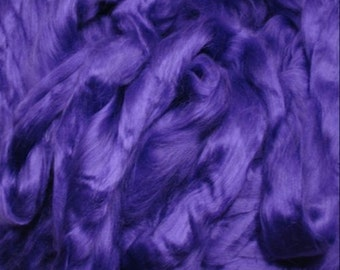 Purple Heliotrope/ Dyed Bamboo/ Bamboo/ Needle Felting/ Blending Fiber/ Roving/ Spinning Top/ Alba Ranch/ Add In Fiber/ How to Spin Yarn/
