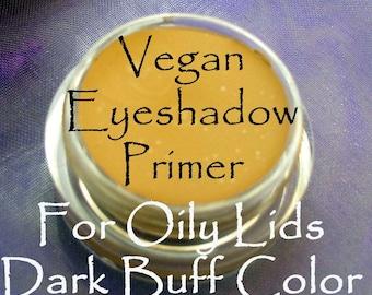 Vegan Oily Lid Eyeshadow PRIMER in Dark Buff Color