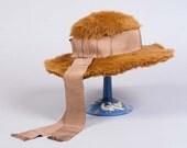SALE 1950s Floppy Fur Hat, Winter, Holiday