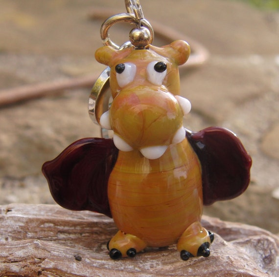 Glasspendant little lampwork bead   Sra
