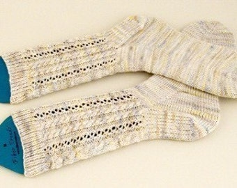 Alice's Cable Socks Knitting Pattern - PDF