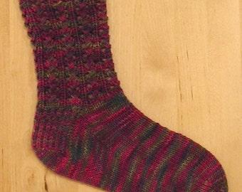 Lacy Rib Sock Knitting Pattern - PDF